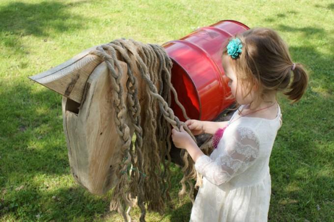 pony selber bauen fass pferd 02