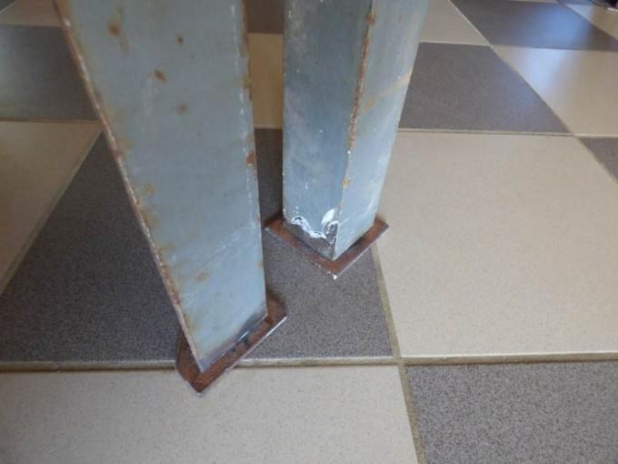 tisch selber bauen bohlen stahl rustikal industrial style esstisch 19