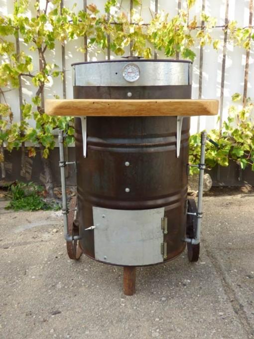 Grill selber bauen gartenlounge aus paletten selber for Smoker selber bauen