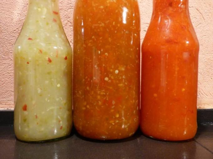 hot chili sauce paprika rot gruen rezept 2