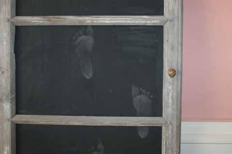 Tafel aus Fenster